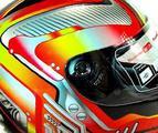 Шлем (интеграл) MI 120 Механика Красный michiru